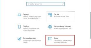 Standardprogramm festlegen - Windows-Einstellungen