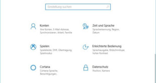 Windows-Einstellungen in Windows 10 öffnen
