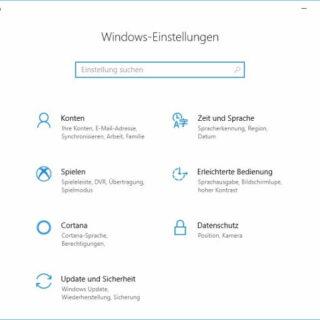 So öffnen Sie Windows-Einstellungen in Windows 10