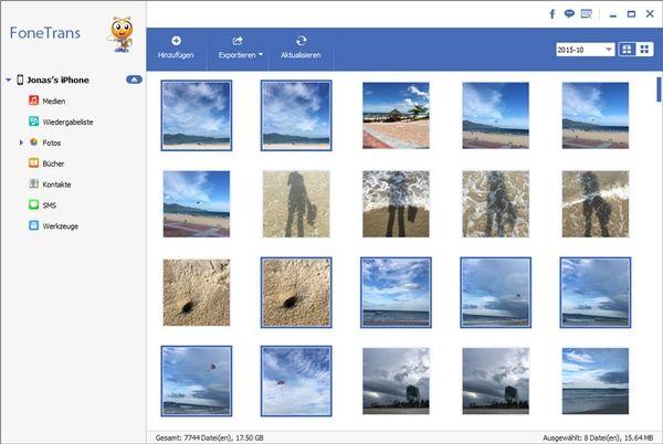 Bilder vom iPhone auf PC übertragen mit FoneTrans