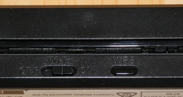 Fujitsu ScanSnap iX100 Wi-Fi und WPS Schalter