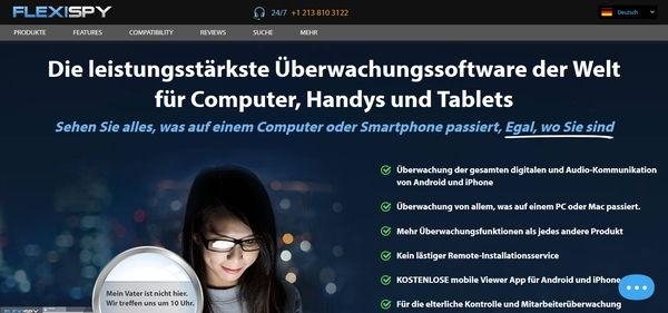 Flexispy Screenshot Webseite