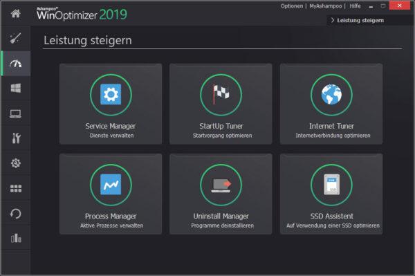 Tools zur Leistungssteigerung in Ashampoo WinOptimizer 2019