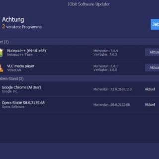 IObit Software Updater - Installierte Programme immer aktuell