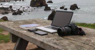 mit dem Laptop und Surfstick überall mobil arbeiten