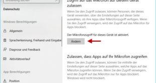 Mikrofonzugriff deaktivieren für Windows und Apps