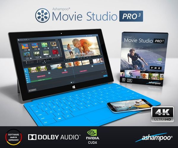 Ashampoo Movie Studio Pro 3 Pressebild