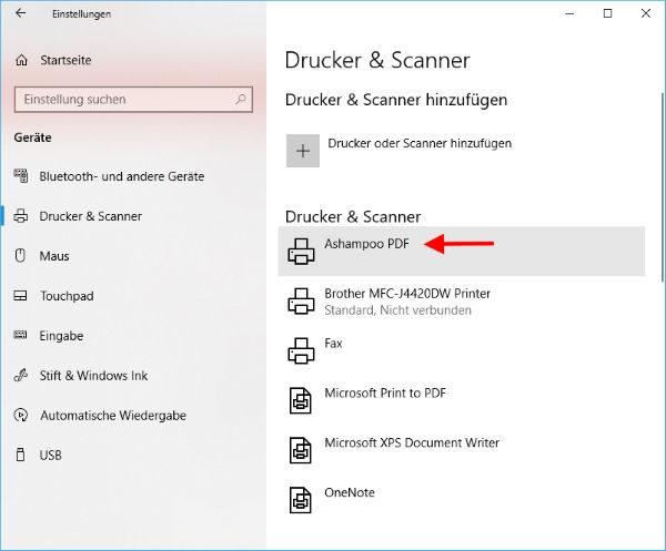 Ashampoo PDF Pro 2 PDF-Drucker