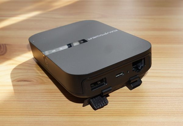 RAVPower AC750 USB und Netzwerk-Anschluss
