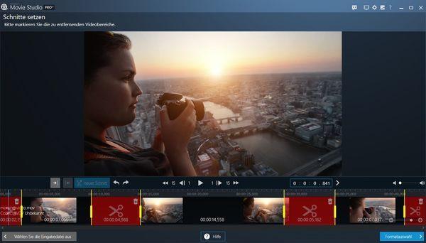 Ashampoo Movie Studio Pro 3 Schnitte setzen