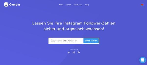 Instagram Follower aufbauen mit Combin
