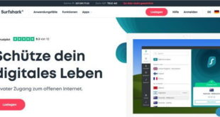 Surfshark VPN Screenshot der Webseite