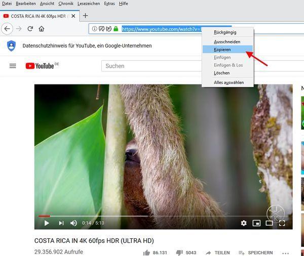 Link zum Video auf YouTube kopieren