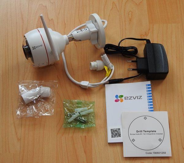 EZVIZ ezTube 1080p Überwachungskamera Lieferumfang