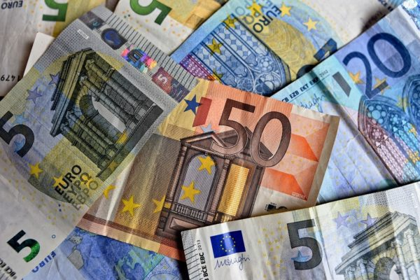 Geld Euro-Banknoten