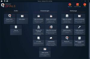 Ashampoo ZIP Pro 3 Screenshot Hauptfenster