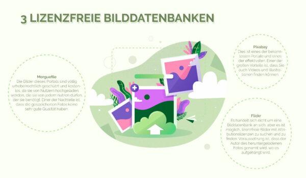 Infografik lizenzfreie Bilddatenbanken