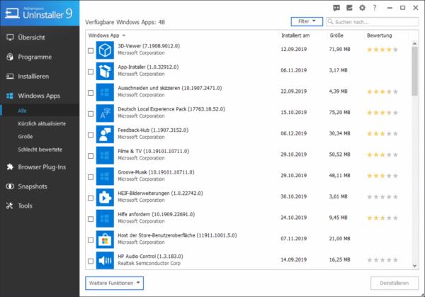 Windows-Apps sauber deinstallieren