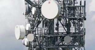 Mobilfunk-Mast mit 5G-Antennen
