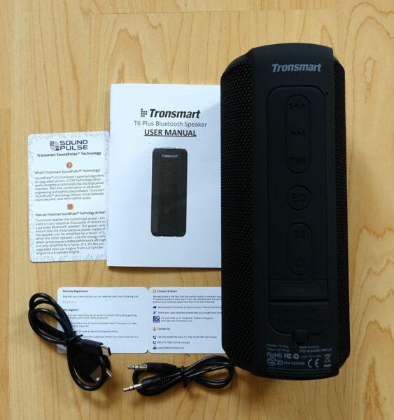 Lieferumfang Tronsmart T6 Plus 40W Bluetooth Lautsprecher