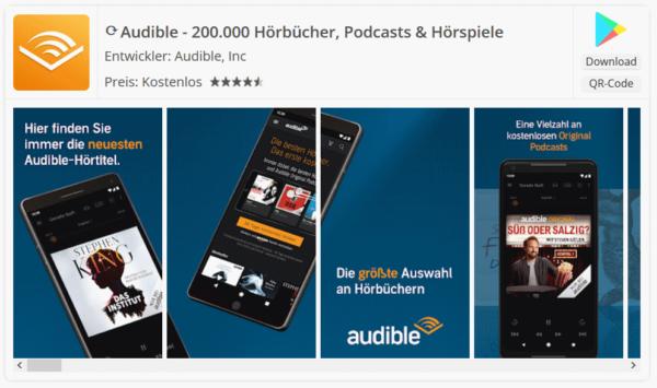 Screenshot Audible App für Android