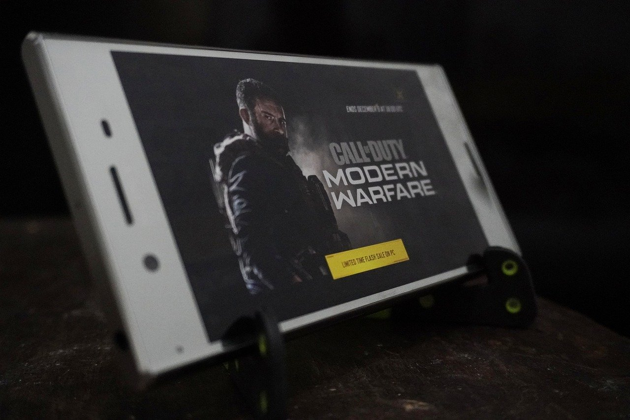 Call Of Duty Videospiel auf dem Smartphone
