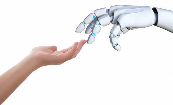 Verbindung Mensch und Roboter