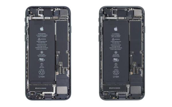 Vergleich iPhoneSE links iPhone8 rechts