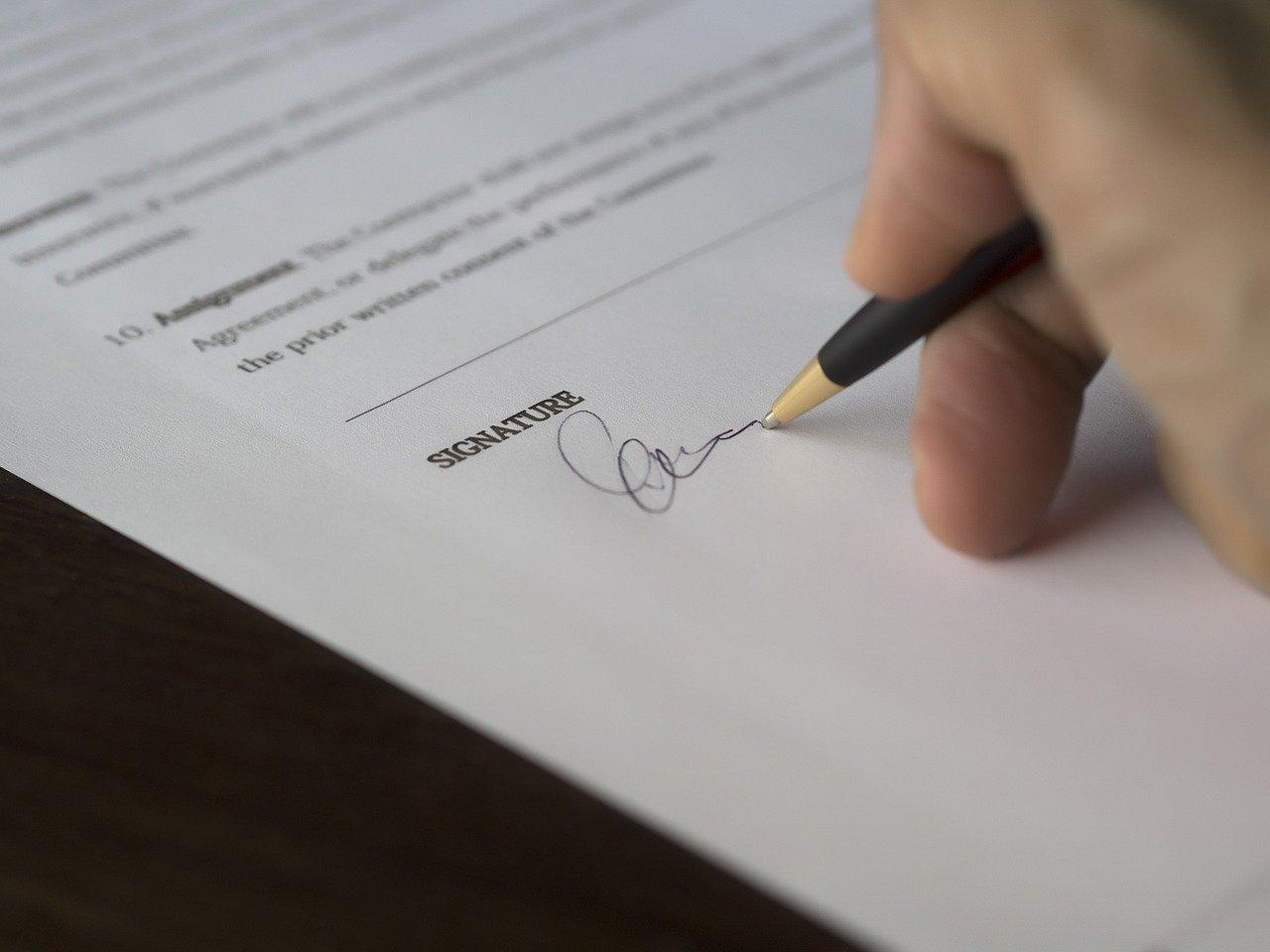 Digitale Unterschrift für Verträge