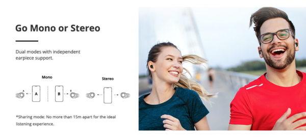 einen oder beiden Kopfhörer in Mono- oder Stereomodus verwenden