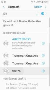 Bluetooth-Geräte werden gesucht