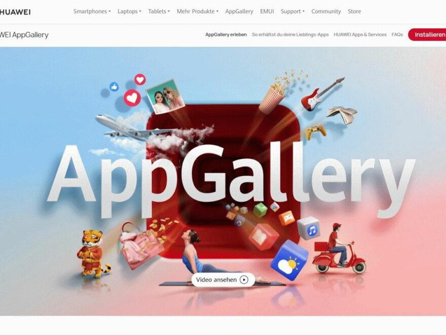 Huawei App Gallery Webseite