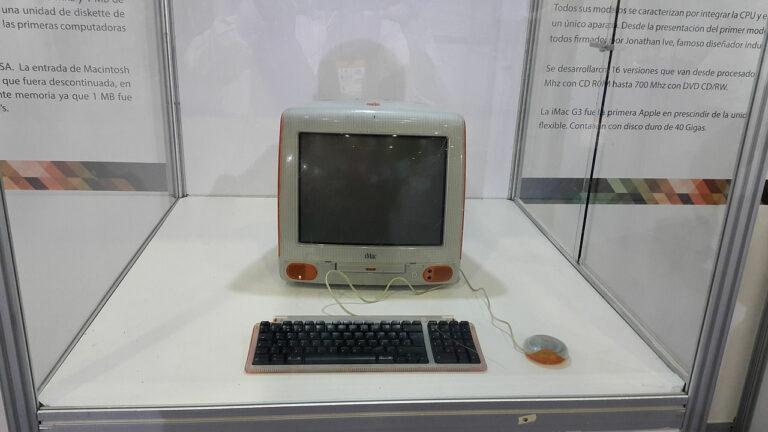 alter iMac Computer im Museum