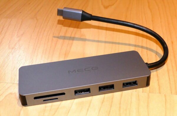 MECO ELEVERDE USB-C Hub Anschlüsse vorn