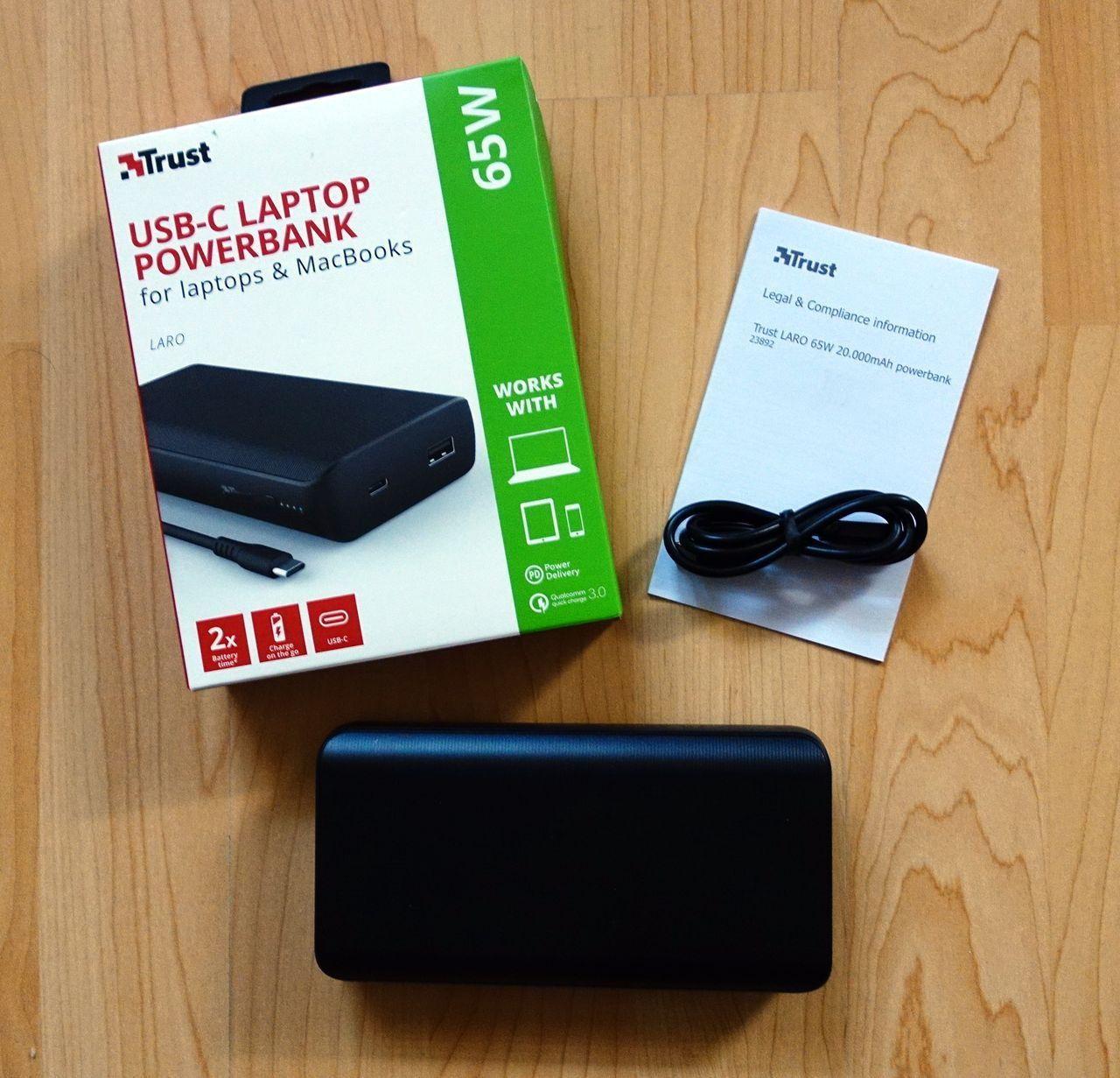 Trust Laro 65W USB-C Laptop Powerbank im Test