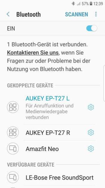 Bluetooth-Verbindung hergestellt