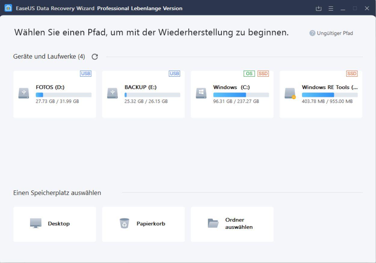 EaseUS Data Recovery Wizard Free – Datenrettung ganz einfach