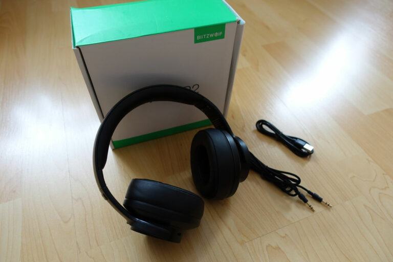 Blitzwolf BW-HP2 Headset Lieferumfang und Verpackung
