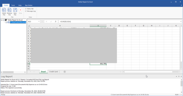 erweiterte Vorschau der Excel-Datei