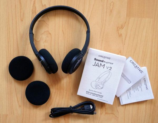 Creative Sound Blaster Jam V2 Bluetooth-Headset Lieferumfang