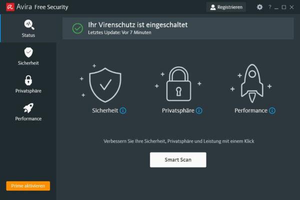 Avira Free Antivirus für Windows