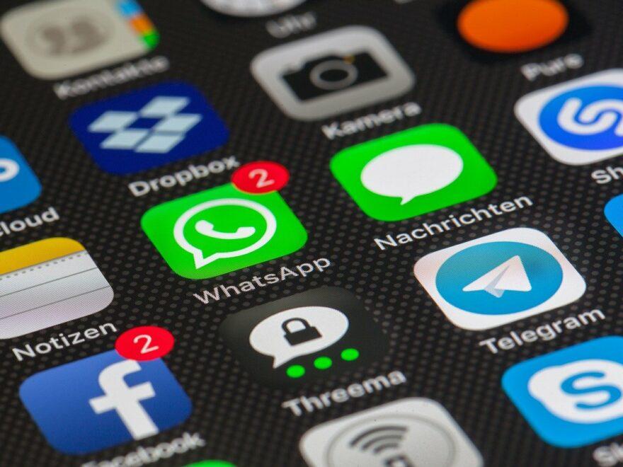 Apps wie Whatsapp auf dem Smartphone