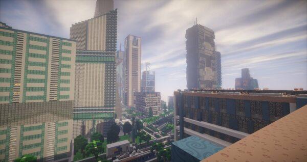 Minecraft Map Stadt Wolkenkratzer